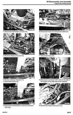 Komatsu Wheel Loader WA470-7 USA sn A47001 and up Workshop Service Manual