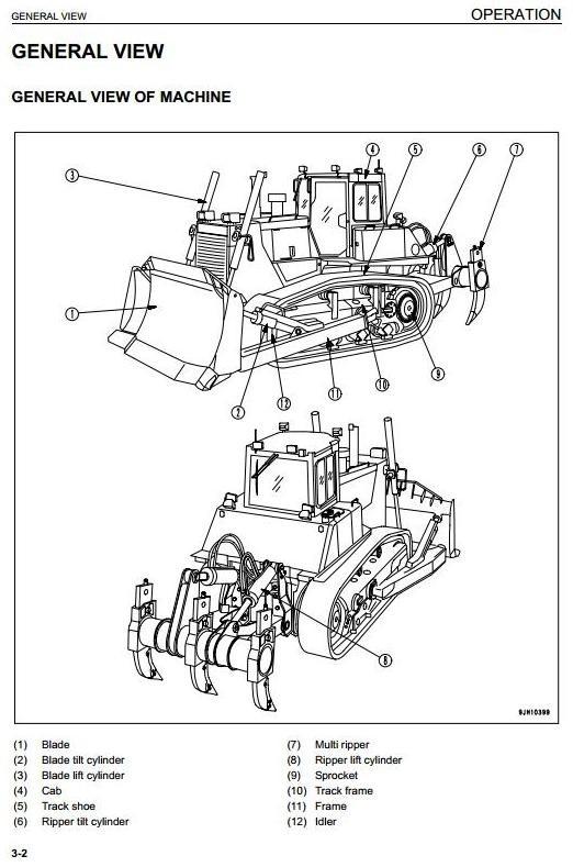 Komatsu Crawler Dozers D155AX-6 sn:80001 and up Operating and Maintenance Instructions