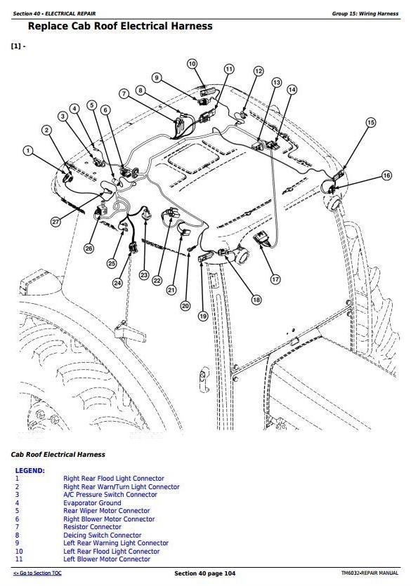 John Deere 5425, 5625, 5725 Narrow, Orchard & HC Tractors Service Repair Manual (TM6032)