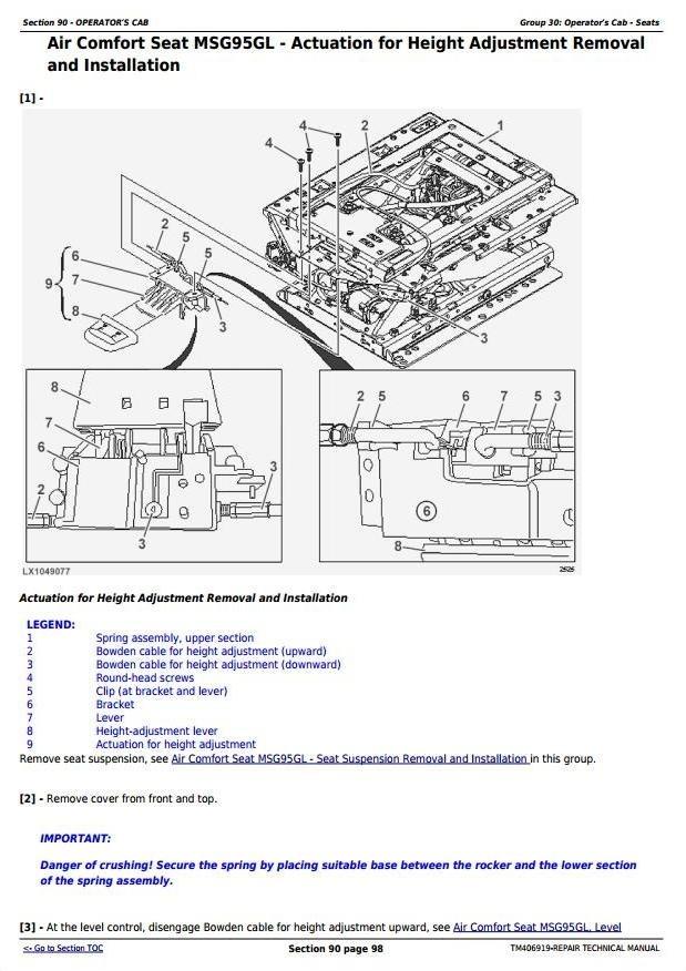 John Deere 6145R, 6155R, 6155RH, 6175R, 6195R, 6215R Tractors Repair Technical Manual (TM406919)