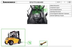 Jungheinrich Truck DFG/TFG 660, DFG/ TFG 670, DFG/TFG 680, DFG/TFG 690 Service Manual