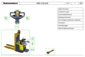 Jungheinrich Electric pedestrian stacker Type ERC212, ERC214, ERC216 (-Z) Workshop Service Manual