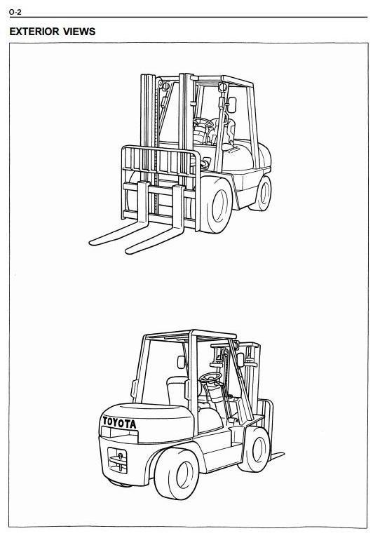 Toyota Diesel Forklift Truck  6FDU33, 6FDU35, 6FDU40, 6FDU45, FDAU50 Workshop Service Manual