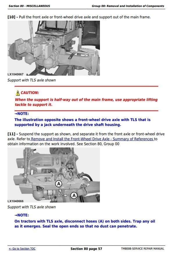 John Deere 6230, 6330, 6430, 6530 & 6630 Premium European Tractors Service Repair Manual (TM8008)