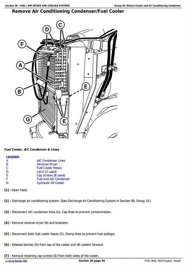 John Deere 7720, 7820, 7920  - 2WD or MFWD Tractors Service Repair Manual (TM2080)
