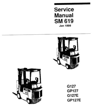 Clark LPG Forklift Truck Type G127, GP127, G127E, GP127E: GCS/GCX/GPS/GPX12, -15, -17 Service Manual
