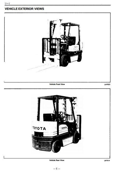 Toyota Diesel Forklift Truck: 5FDC20, 5FDC25, 5FDC30 Workshop Service Manual