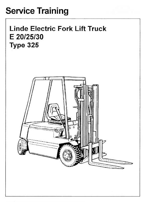 linde electric forklift truck type 325 e20 e25 e30 rh sellfy com