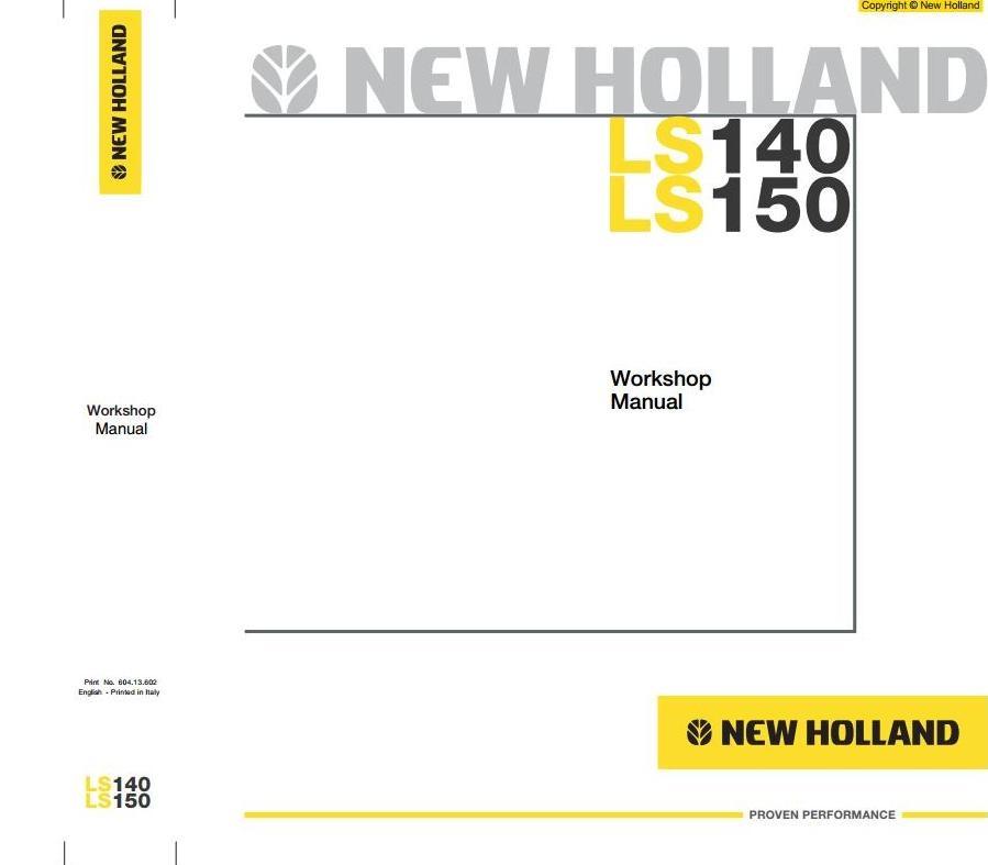 new holland skid steer loader ls140 ls150 workshop se rh sellfy com 37 Service Manual New Holland Bomer New Holland Logo
