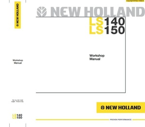 New Holland Skid Steer Loader LS140, LS150 Workshop Service Manual
