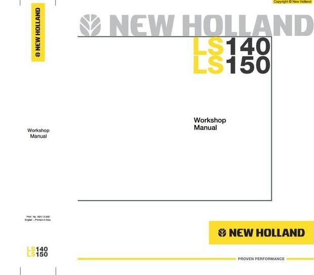 New Holland Skid Steer Loader LS140, LS150 Workshop Service Manual