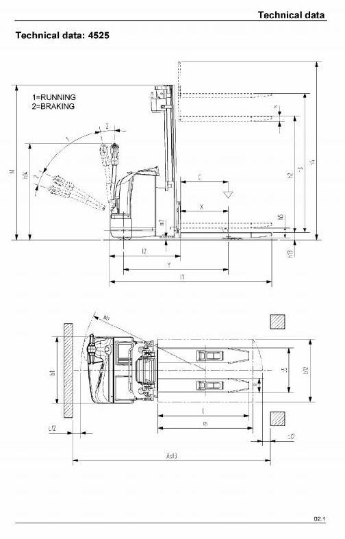 Linde Pallet Stacker Type 4525: L20 , 4527: L20AS, 4528: L20i Service Training (Workshop) Manual