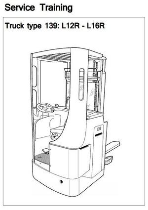 Linde Pallet Stacker Type 139: L12R, L16R Service Training (Workshop) Manual