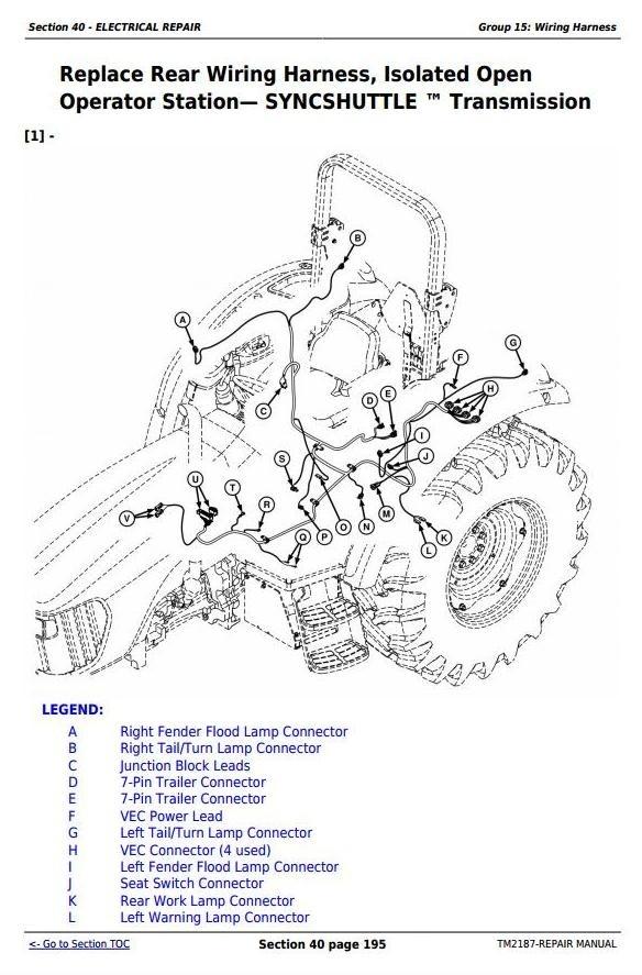 John Deere 5225, 5325, 5425, 5525, 5625, 5603 Tractors Repair Service Manual (TM2187)