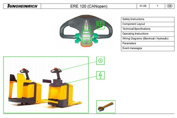 Jungheinrich Electric stacker Type ERE 120N (from 07.2009) Workshop Service Manual
