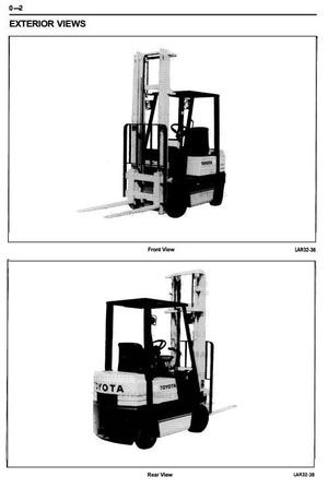 Toyota LPG Forklift Truck 30-5FGC10, 30-5FGC13, 30-5FGC15, 5FGC10, 5FGC13, 5FGC15 Service Manual