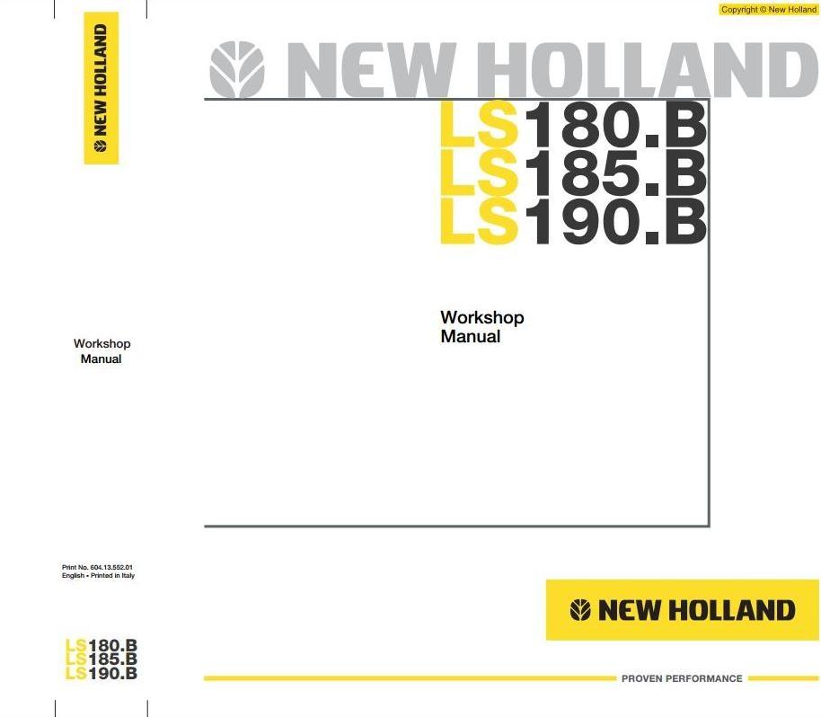 new holland skid steer loader ls180 b ls185 b ls190 rh sellfy com new holland ls180 manual free new holland ls180 service manual free