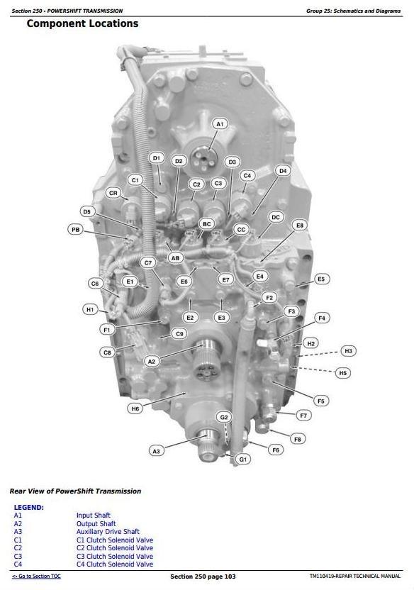 John Deere 8310RT, 8335RT & 8360RT Tractors Diagnosis and Tests Service Manual (TM110419)