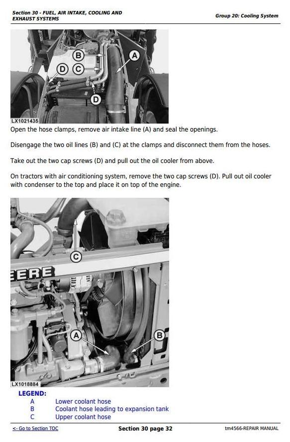 john deere 6810 6910 and 6910s tractors service repa rh sellfy com John Deere 737 Service Manual John Deere Online Service Manual