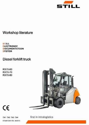 Still Diesel Forklift Truck Type RX70-60, RX70-70, RX70-80: 7341, 7342, 7343, 7344 Service Manual
