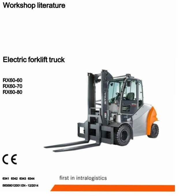 Still Electric Forklift Truck Type RX60-60, RX60-70, RX60-80: 6341, 6342, 6343, 6344 Service Manual
