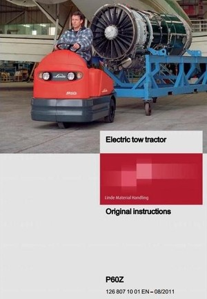 Linde Electric Tractor Type 126: P60Z Operating Instructions (User Manual)