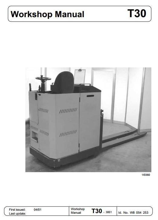 Linde Pallet Truck Type 012: T30R-02 Service Training (Workshop) Manual