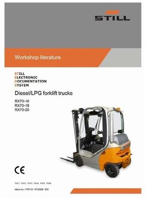 Still Forklift Truck RX70-16, RX70-18, RX70-20: 7311, 7312, 7313, 7314, 7315, 7316 Service Manual