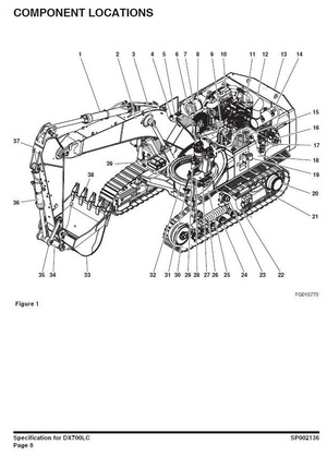 Doosan Crawler Excavator Type DX700LC S/N: 5001 and Up Workshop Service Manual