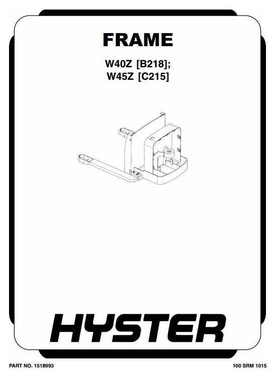 walkie w40z b218 series, w45z c215 ser hyster electric walkie w40z b218  series, w45z c215 series workshop service manual at hyster w40z wiring- diagram