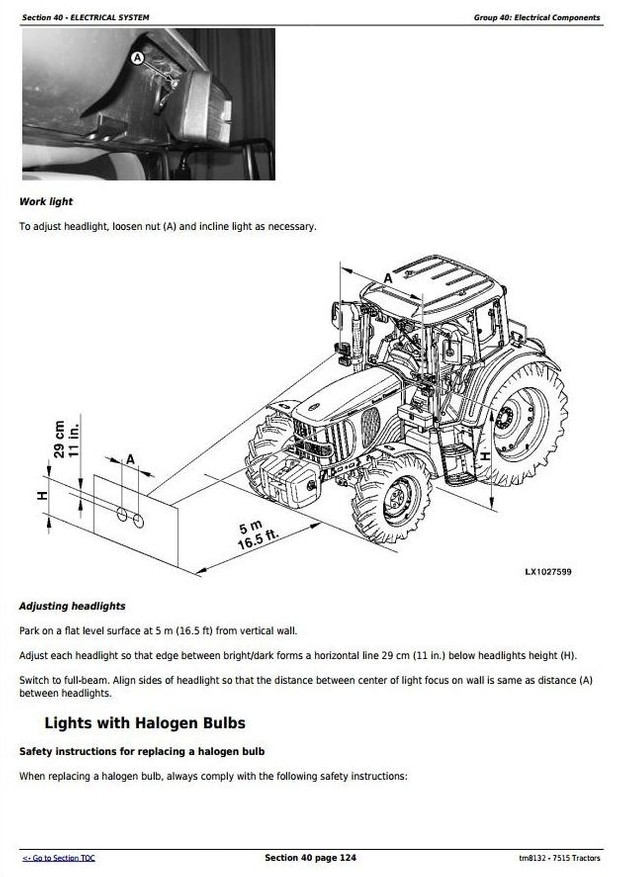 John Deere 7515 2WD or MFWD Tractors Service Repair Technical Manual (tm8132)