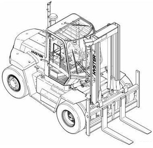 Hyster Forklift G007 Series: H170HD, H190HD, H210HD, H230HD, H250HD, H280HD Service Manual