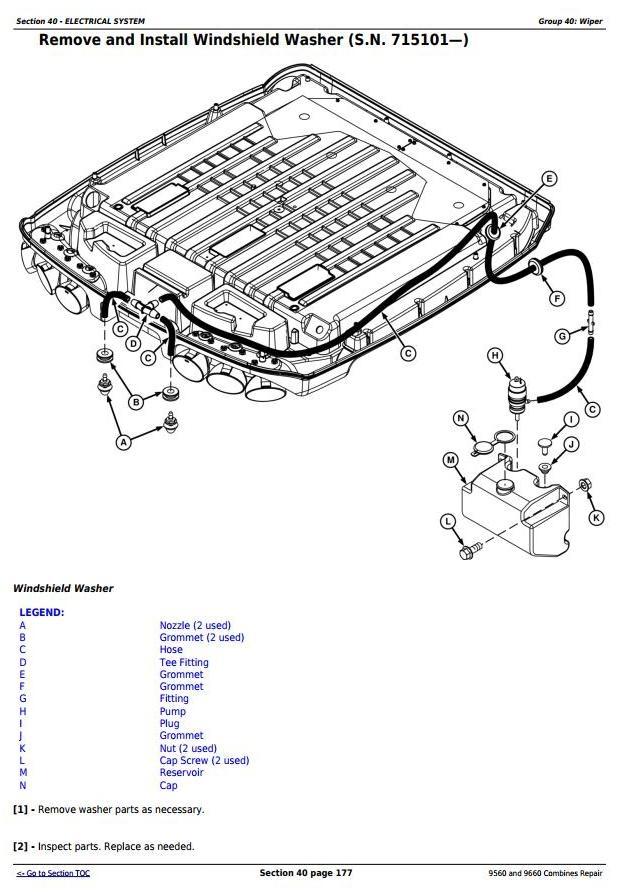 9560 And 9660 Bines Sn 705201 Service Repair Te. 9560 And 9660 Bines Sn 705201 Service Repair Technical Manual Tm2161. John Deere. Air Conditioning Wiring Diagrams John Deere 9560 At Scoala.co