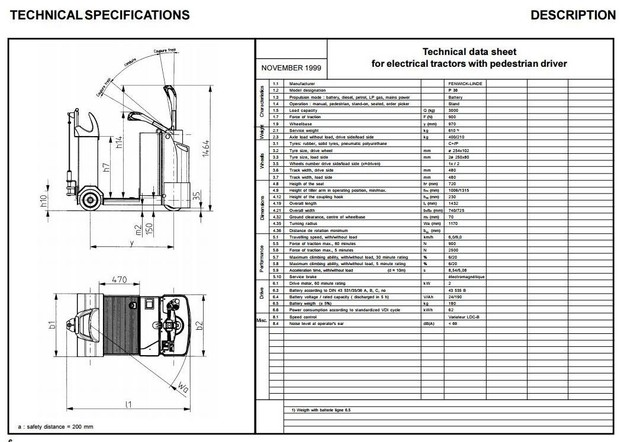 Linde Electrical Tractor Type 141: P30 Operating Instructions (User Manual)