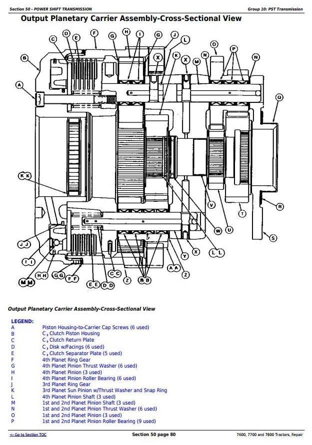 john deere 7600 7700 and 7800 2wd or mfwd tractors rh sellfy com John Deere Electrical Diagrams John Deere 3020 Electrical Diagram