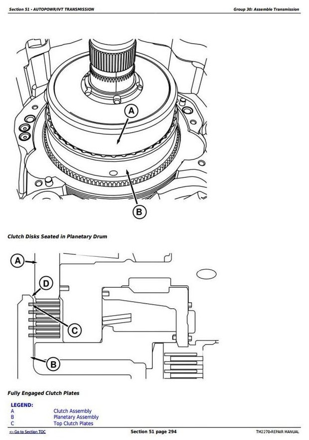 John Deere 8130, 8230, 8330, 8430 and 8530 2WD or MFWD Tractors Service Repair Manual (TM2270)
