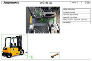 Jungheinrich Electric Lift Truck EFG 535, EFG 540, EFG 545, EFG 550 (01.04-10.09) Service Manual