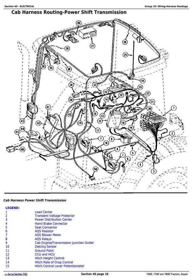 john deere 7600 7700 and 7800 2wd or mfwd tractors rh sellfy com John Deere Ignition Switch Diagram John Deere Ignition Switch Diagram