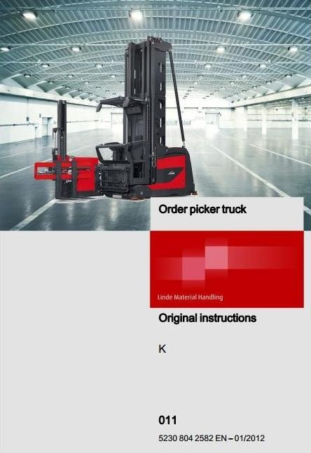 Linde Truck Type 011: K From 01/2012 Operating Instructions (User Manual)