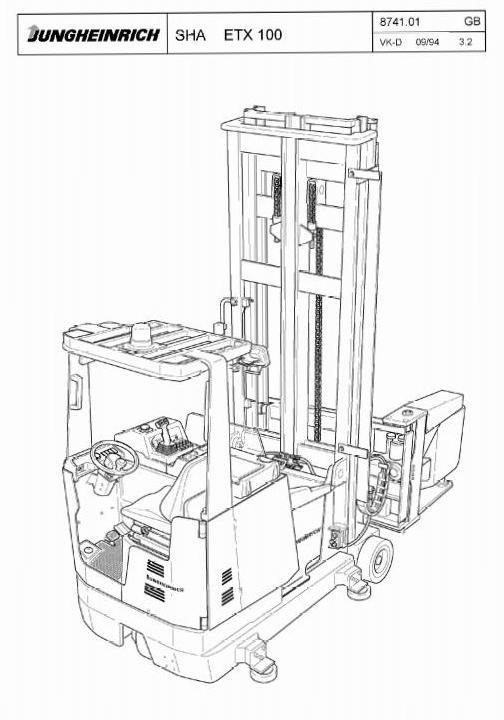 Jungheinrich Electric tri-lateral stacker ETX 100 (03.1994-05.1997) Workshop Service Manual