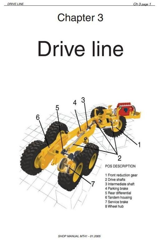Doosan Articulated Dump Truck Type Moxy MT41 Workshop Service Manual