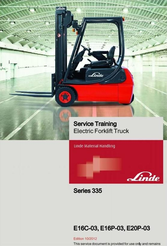 linde electrical forklift truck 335 03 series e16c 03 rh sellfy com Clark Forklift Manuals Manual Forklift Jack