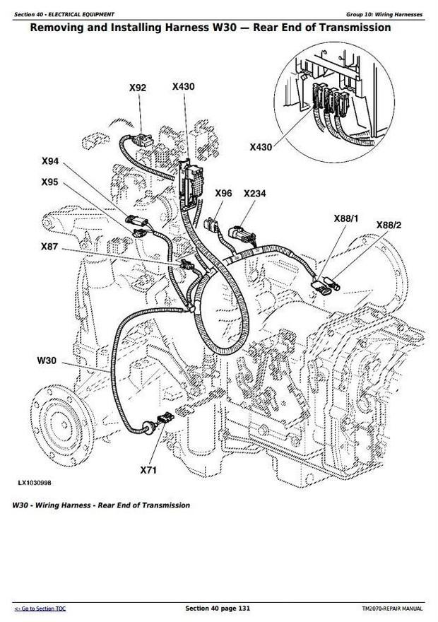 John Deere 7220, 7320, 7420, 7420 Hi-Crop;7520 2-Wheel Drive Tractors Service Repair Manual (TM2070)