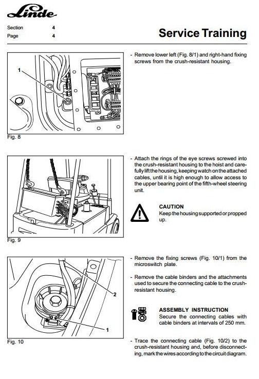 Linde Electric Forklift Truck 324 Type Explosion Protected E15-02Ex,  E16-02Ex Service Manual