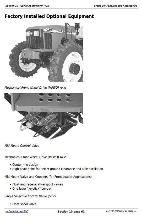 john deere 5105 and 5205 usa tractors diagnostic and t rh sellfy com john deere 5105 technical manual john deere 5105 technical manual