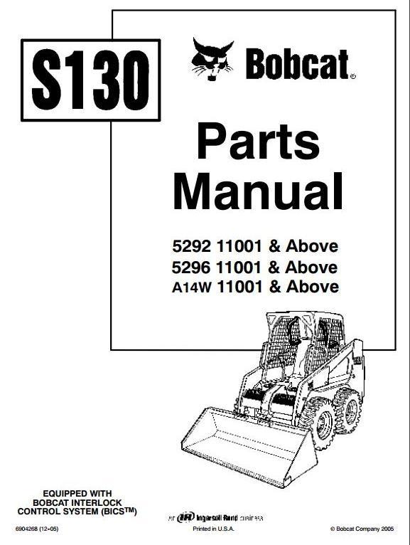 bobcat skid steer loader type s130  529211001 up  5296