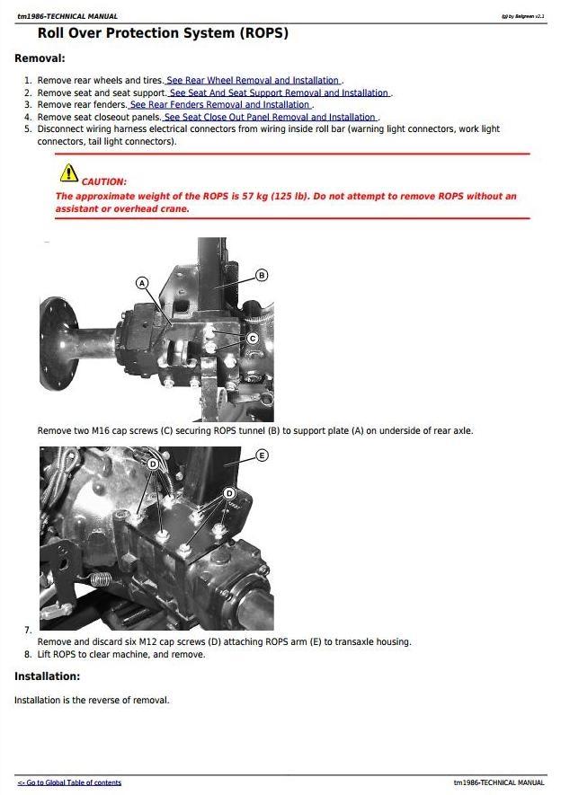 john deere 4510 4610 4710 compact utility tractors d rh sellfy com John Deere 317 Parts Diagram 4510 John Deere Parts Catalog