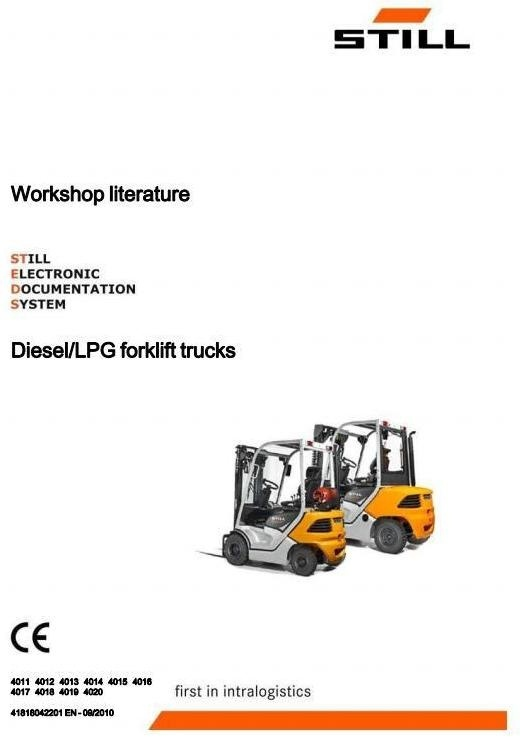 Still Forklift Truck Type RC40-15, RC40-18, RC40-20, RC40-25, RC40-30 (4011-4020) Service Manual