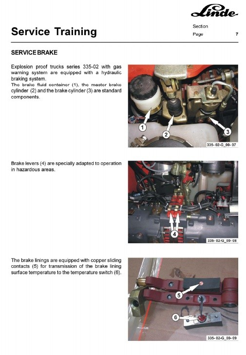 Linde Explosion Proof Forklift 335-02 Series: E14, E16, E16C, E18C,E16P, E18P, E20P Service Manual