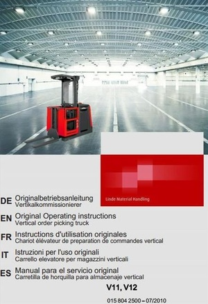 Linde Order Picker Truck Type 015: V11ac, V12ac Operating Instructions (User Manual)